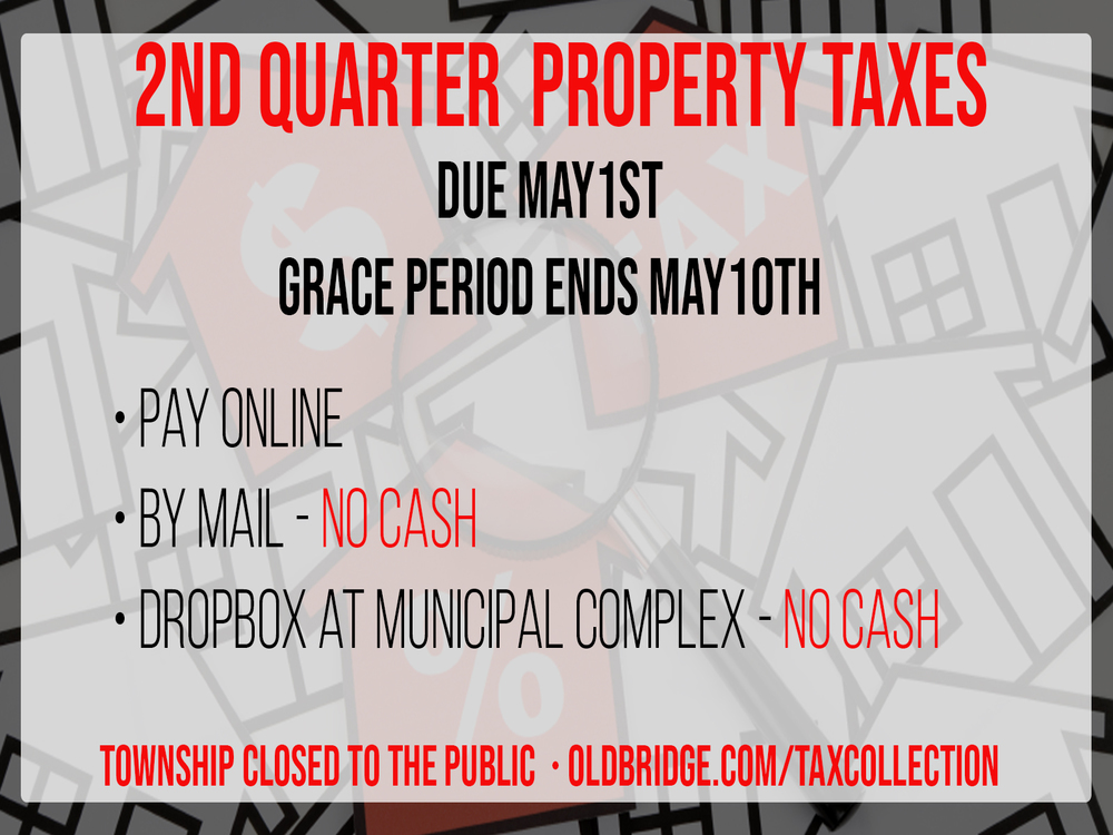 Second Quarter Property Taxes