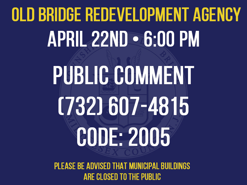 Special Redevelopment Meeting - April 22nd