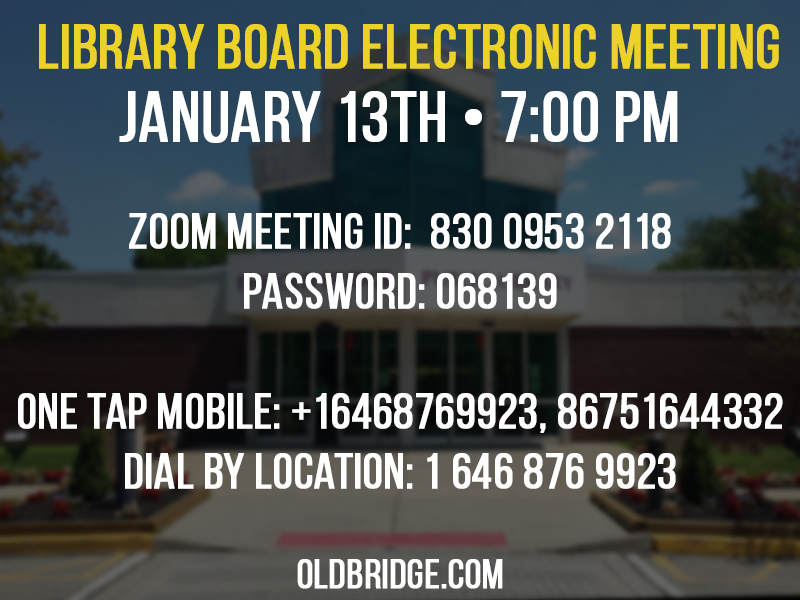 Library Board Meeting January 13th