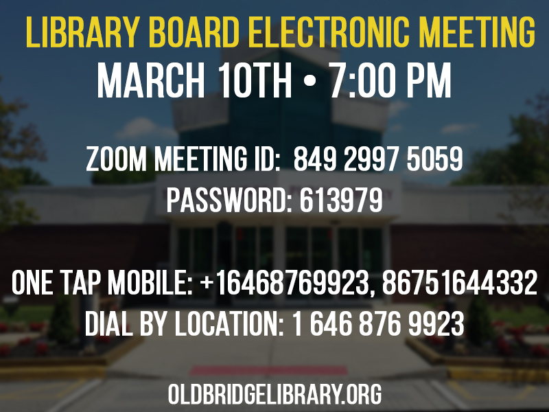 Library Board Meeting March 10