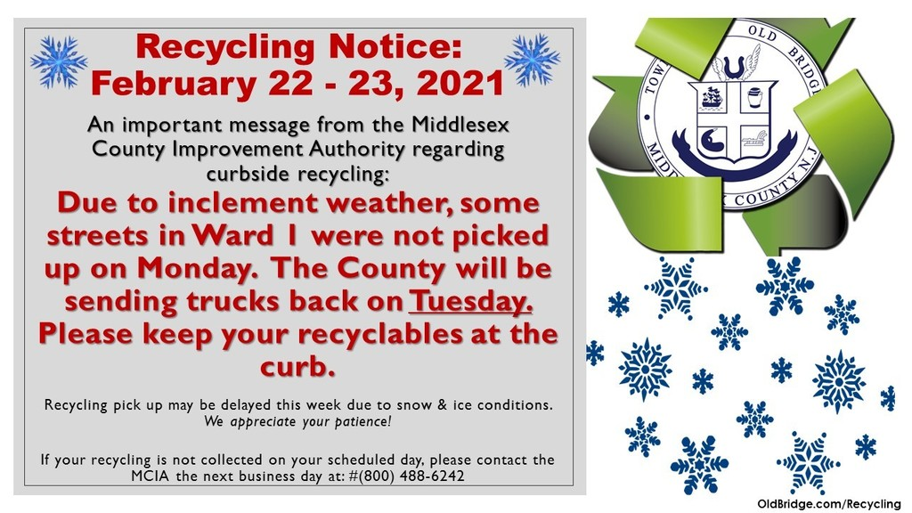 Recycling Pick Up for Ward I