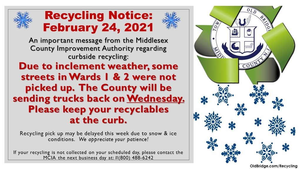 Information on Recycling in Ward 1 & 2