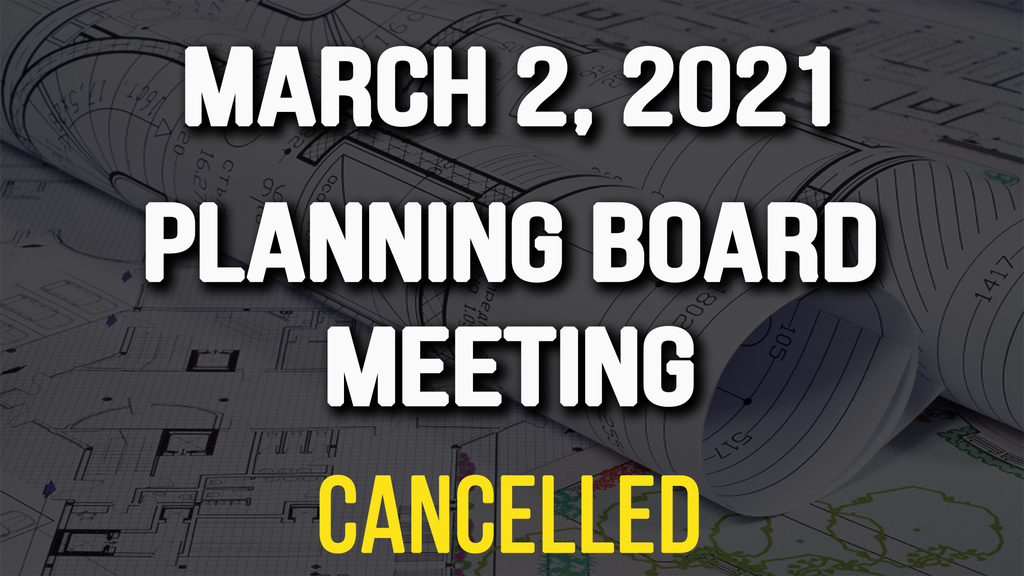 Planning Meeting Cancelled